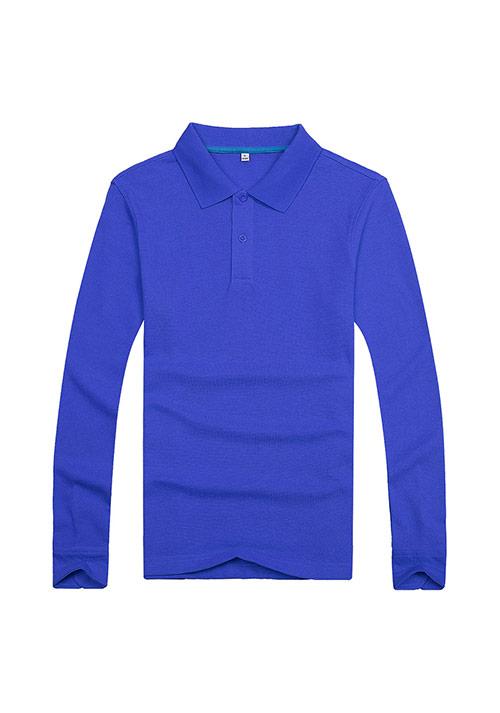 蓝色长袖T恤