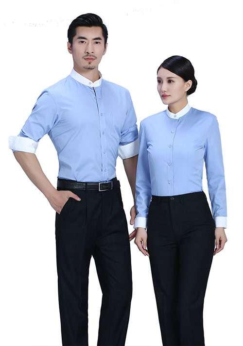 湖蓝职业衬衫