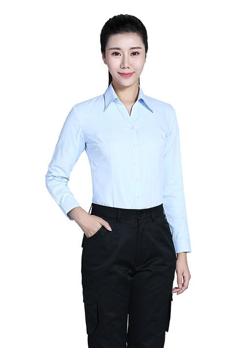 浅蓝女士衬衫