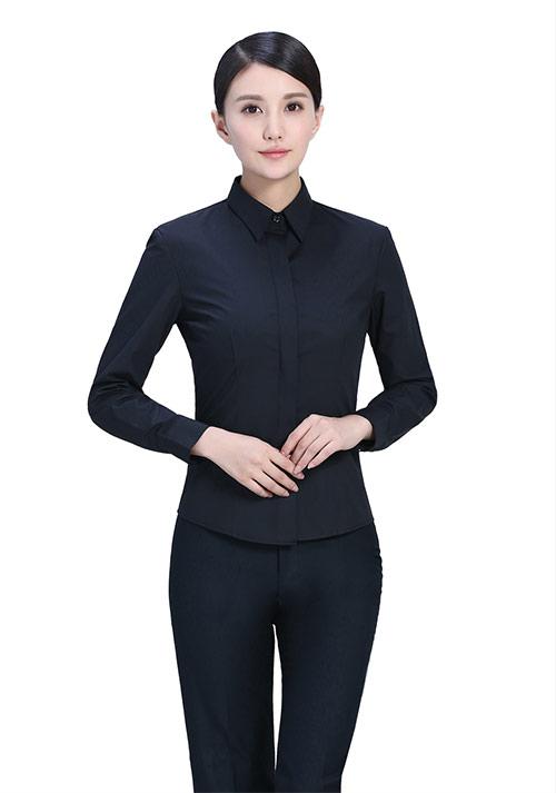黑色纯棉职业装
